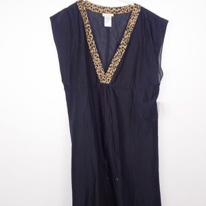 Michael Kors Sleeveless Shift Dress Side Split